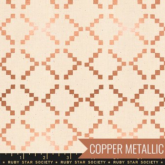 RUBY STAR SOCIETY, Golden Hour TILE in Copper Metallic - ELEGANTE VIRGULE, CANADIAN FABRIC SHOP