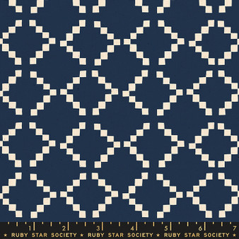 RUBY STAR SOCIETY, Golden Hour TILE in Navy - ELEGANTE VIRGULE, CANADIAN FABRIC SHOP