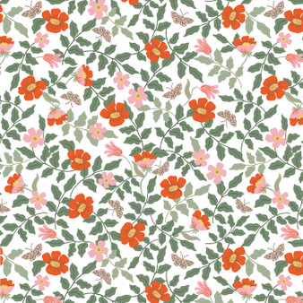 RIFLE PAPER CO, Strawberry Fields PRIMROSE in Ivory,  ELEGANTE VIRGULE CANADA, CANADIAN FABRIC SHOP