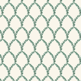 RIFLE PAPER CO, Strawberry Fields LAUREL in Green & Cream,  ELEGANTE VIRGULE, CANADIAN FABRIC SHOP