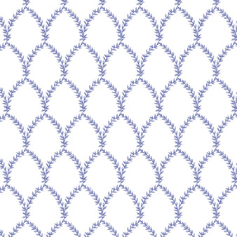 RIFLE PAPER CO, Strawberry Fields LAUREL in Periwinkle,  ELEGANTE VIRGULE, CANADIAN FABRIC SHOP