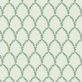 RIFLE PAPER CO, Strawberry Fields LAUREL in Mint,  ELEGANTE VIRGULE, CANADIAN FABRIC SHOP