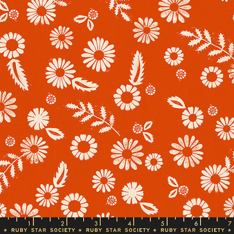 RUBY STAR SOCIETY, GOLDEN HOUR Daisy in Warm Red,  ELEGANTE VIRGULE, CANADIAN FABRIC SHOP