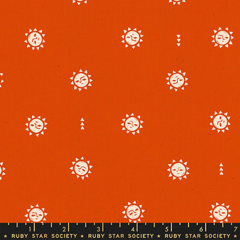RUBY STAR SOCIETY, GOLDEN HOUR Sunrise in Warm Red,  ELEGANTE VIRGULE, CANADIAN FABRIC SHOP