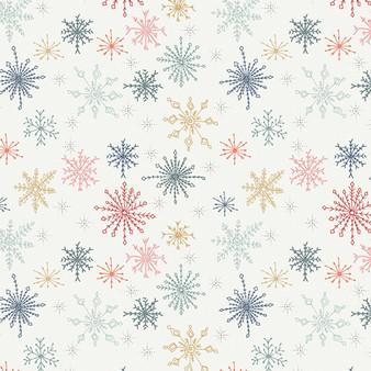 ART GALLERY FABRICS Cozy and Joyful, MAKE SNOW FLURRIES - by the half-meter, ELEGANTE VIRGULE, Canadian Fabric Shop
