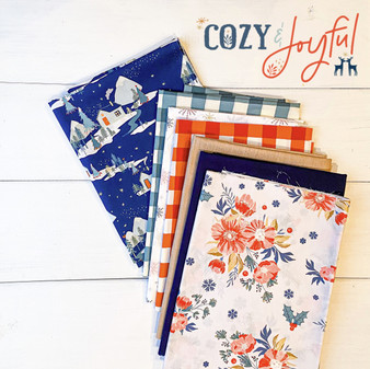 ART GALLERY FABRICS Cozy and Joyful, Bundle of 7 fabrics - ELEGANTE VIRGULE, Canadian Fabric Shop