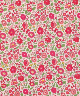 LIBERTY OF LONDON - D'ANJO A Red 100% Cotton Tana Lawn, Per Half-Meter, CANADIAN FABRIC SHOP. LIBERTY IN CANADA, Elegante Virgule