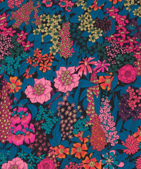 LIBERTY OF LONDON - CIARA C Blue Fuschia Magenta, 100% Cotton Tana Lawn, Per Half-Meter, CANADIAN SHOP. LIBERTY IN CANADA, Elegante Virgule