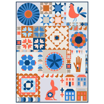 The Thread House Folk Dance BOM Quilt Kit - ELEGANTE VIRGULE CANADA, Canadian Fabric Shop, Quilting Cotton