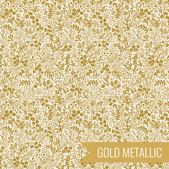RIFLE PAPER CO Basics, TAPESTRY LACE in Gold Metallic,  ELEGANTE VIRGULE CANADA, CANADIAN FABRIC SHOP, QUILT SHOP, QUILTING COTTON