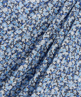 LIBERTY OF LONDON - PEPPER R Blue 100% Cotton Tana Lawn, Per Half-Meter, CANADIAN SHOP. LIBERTY IN CANADA, Elegante Virgule, Quilting Cotton