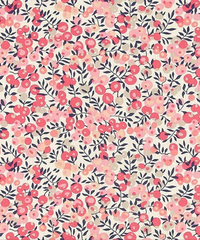 LIBERTY OF LONDON - WILTSHIRE D Pink 100% Cotton Tana Lawn, Per Half-Meter. CANADIAN SHOP. LIBERTY IN CANADA, Elegante Virgule, Quilting Shop