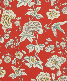 LIBERTY OF LONDON - CEREMONY A Red 100% Cotton Tana Lawn, Per Half-Meter,  CANADIAN SHOP. LIBERTY IN CANADA, Elegante Virgule
