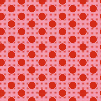 TILDA Medium Dots in Salmon, 100% Cotton. TILDA BASICS, Elegante Virgule Canada, Canadian Fabric Quilt Shop, Quilting Cotton