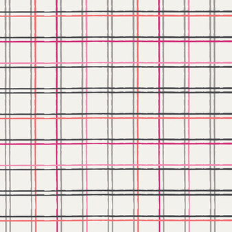 AGF ART GALLERY FABRICS PLAYING POP, Plaid Beat Sparkling - by the half-meter, ELEGANTE VIRGULE, Canadian Fabric Shop, Quilting Cotton
