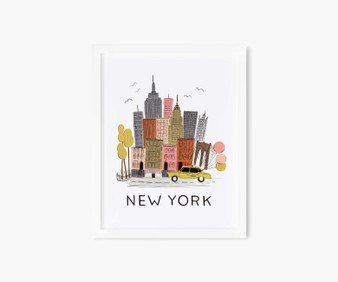 "New York City - RIFLE PAPER CO, Art Print 8"" x 10"" - ELEGANTE VIRGULE CANADA, Canadian Gift, Fabric and Quilt Shop."
