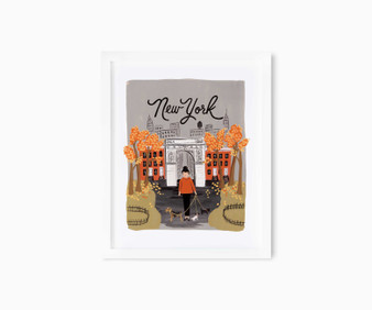 "New York Autumn - RIFLE PAPER CO, Art Print 8"" x 10"" - ELEGANTE VIRGULE CANADA, Canadian Gift, Fabric and Quilt Shop."