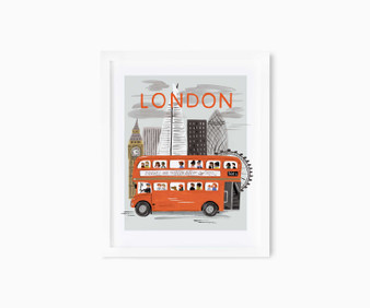 "London World Traveler - RIFLE PAPER CO, Art Print 8"" x 10"" - ELEGANTE VIRGULE CANADA, Canadian Gift, Fabric and Quilt Shop."