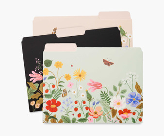 Strawberry Fields Assorted File Folders - RIFLE PAPER CO Stationery. Set of 6 - ELEGANTE VIRGULE CANADA, Canadian Gift, Fabric and Quilt Shop.