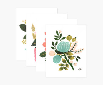 Botanical Assorted Card Set - RIFLE PAPER CO, Set of 8 cards - ELEGANTE VIRGULE CANADA, Canadian Gift, Fabric and Quilt Shop.