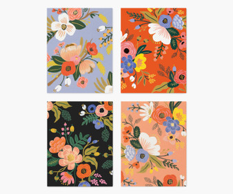 Lively Floral Assorted Card Set - RIFLE PAPER CO, Set of 8 cards - ELEGANTE VIRGULE CANADA, Canadian Gift, Fabric and Quilt Shop.