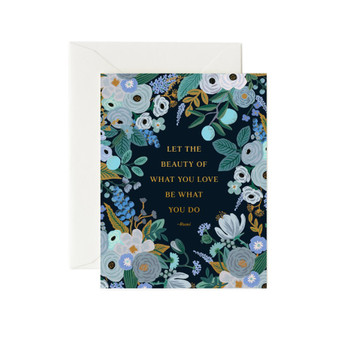 Rumi Quote Card - RIFLE PAPER CO Encouragement Card - ELEGANTE VIRGULE CANADA, Canadian Gift, Fabric and Quilt Shop.