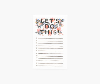 """""""Let's do this"""" Checklist Notepad - RIFLE PAPER CO Stationery - ELEGANTE VIRGULE CANADA, Canadian Gift, Fabric and Quilt Shop."""