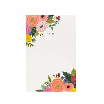 Juliet Rose Floral Notepad - RIFLE PAPER CO Stationery - ELEGANTE VIRGULE CANADA, Canadian Gift, Fabric and Quilt Shop.