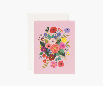 Garden Party Rose Card - RIFLE PAPER CO Card - ELEGANTE VIRGULE CANADA, Canadian Gift, Fabric and Quilt Shop.