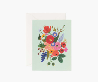 Garden Party Mint Card - RIFLE PAPER CO Card - ELEGANTE VIRGULE CANADA, Canadian Gift, Fabric and Quilt Shop.