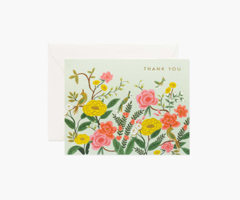 Shanghai Garden, Thank You Card - RIFLE PAPER CO Card - ELEGANTE VIRGULE CANADA, Canadian Gift, Fabric and Quilt Shop.