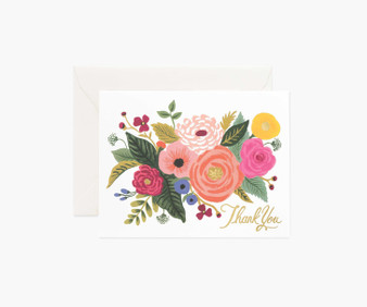 Juliet Rose, Thank You Card - RIFLE PAPER CO Card - ELEGANTE VIRGULE CANADA, Canadian Gift, Fabric and Quilt Shop.