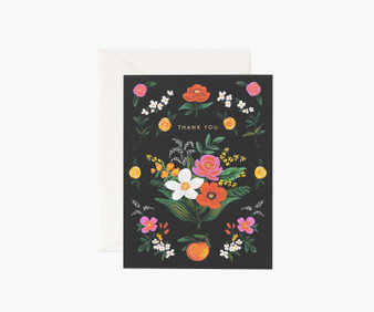 Orangerie, Thank You Card - RIFLE PAPER CO Card - ELEGANTE VIRGULE CANADA, Canadian Gift, Fabric and Quilt Shop.