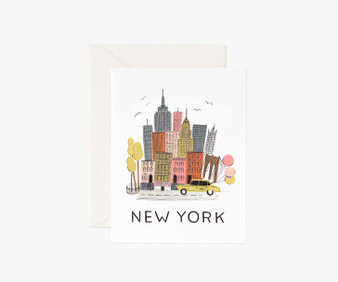 New York City Card - RIFLE PAPER CO Card - ELEGANTE VIRGULE CANADA, Canadian Gift, Fabric and Quilt Shop.