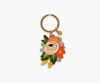 Rosa Enamel Keychain - RIFLE PAPER CO Accessories - ELEGANTE VIRGULE CANADA, Canadian Gift, Fabric and Quilt Shop.