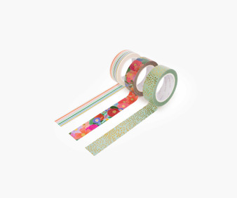 Garden Party Paper Tape - RIFLE PAPER CO Stationery. Set of 6 - ELEGANTE VIRGULE CANADA, Canadian Gift, Fabric and Quilt Shop.