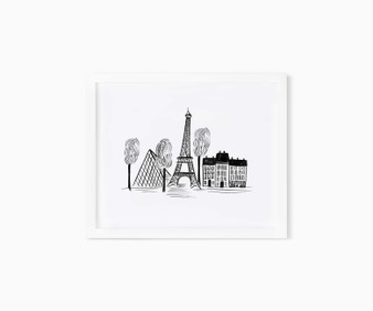 "Paris Sketch - RIFLE PAPER CO, Art Print 8"" x 10"" - ELEGANTE VIRGULE CANADA, Canadian Gift, Fabric and Quilt Shop."