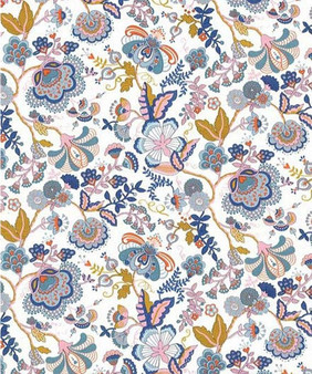LIBERTY OF LONDON - MABELLE S Blue Light Brown PINK 100% Cotton Tana Lawn, Per Half-Meter, CANADIAN FABRIC SHOP. LIBERTY IN CANADA, Elegante Virgule