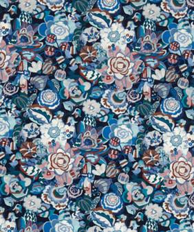 LIBERTY OF LONDON - GATSBY GARDEN SMALL B in Navy Blue 100% Cotton Tana Lawn, Per Half-Meter, CANADIAN SHOP. LIBERTY IN CANADA, Elegante Virgule