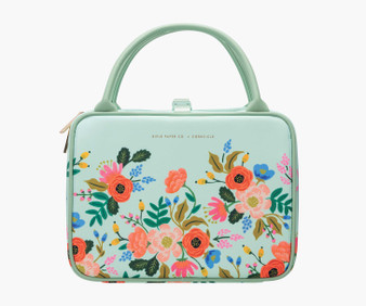 Lively Floral Mint - RIFLE PAPER CO X CORKCICLE, Baldwin Boxer Lunchbox - ELEGANTE VIRGULE CANADA, Canadian Gift, Fabric and Quilt Shop. Bottle, Thermos