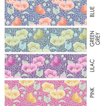 TILDA GARDENLIFE, Poppies - Elegante Virgule Canada, Quilting Cotton