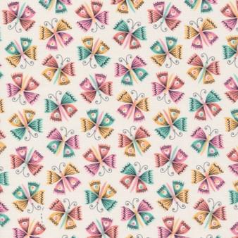 CLOUD 9 Fabrics, TROPICAL GARDEN, Flutter - 100% ORGANIC Cotton - by the half-meter, ELEGANTE VIRGULE, CANADIAN FABRIC SHOP