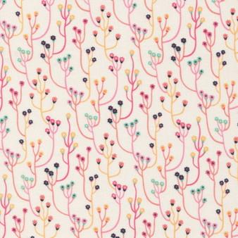 CLOUD 9 Fabrics, TROPICAL GARDEN, Upward - 100% ORGANIC Cotton - by the half-meter, ELEGANTE VIRGULE, CANADIAN FABRIC SHOP