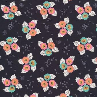 CLOUD 9 Fabrics, TROPICAL GARDEN - Monsoon Bloom - 100% ORGANIC Cotton - by the half-meter, ELEGANTE VIRGULE, CANADIAN FABRIC SHOP