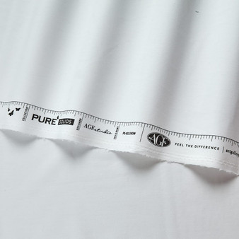 AGF SOLIDS PURE ELEMENTS, Snow - by the half-meter, ELEGANTE VIRGULE CANADA, Canadian Fabric Shop, Quilting Cotton