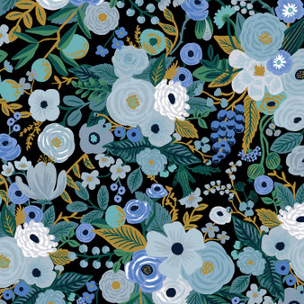 RIFLE PAPER CO, Garden Party in Blue,  ELEGANTE VIRGULE CANADA, CANADIAN FABRIC QUILT SHOP, Quiting Cotton