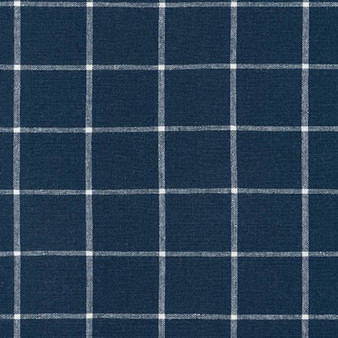 ROBERT KAUFMAN  Essex Yarn Dyed Classic Woven - GRID INDIGO - 55% LINEN, 45% COTTON - by the half-meter - ROBERT KAUFMAN  Essex GRID INDIGO - 55% LINEN, 45% COTTON - by the half-meter - Elegante Virgule Canada, Canadian Quilt Fabric Shop, Quilting Cotton