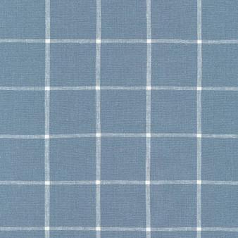 ROBERT KAUFMAN  Essex Yarn Dyed Classic Wovens - GRID CHAMBRAY INDIGO - 55% LINEN, 45% COTTON - by the half-meter - ROBERT KAUFMAN  Essex GRID INDIGO - 55% LINEN, 45% COTTON - by the half-meter