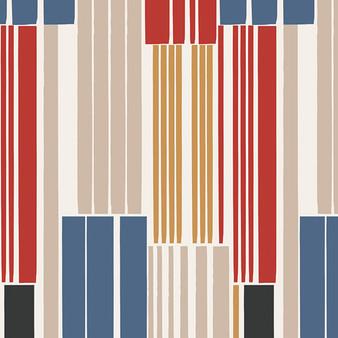 AGF ART GALLERY FABRICS - Aligned LON INES - by the half-meter, ELEGANTE VIRGULE, Canadian Fabric Shop