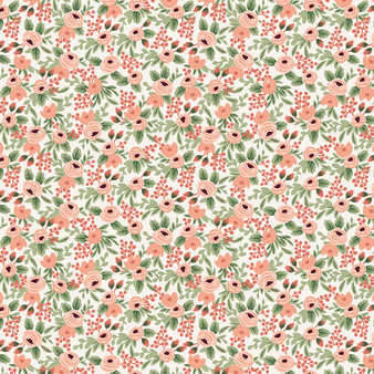 RIFLE PAPER CO, Garden Party ROSA in Rose,  ELEGANTE VIRGULE CANADA, CANADIAN FABRIC QUILT SHOP, Quilting Cotton